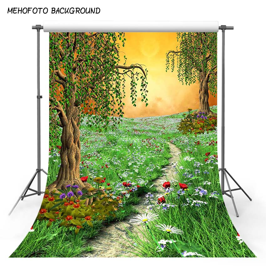MEHOFOTO Children Vinyl Photography Backdrops Fairy Tale Spring Photo Background for Photo Studio lv-114 mehofoto 8x12ft vinyl photography background christmas theme backdrops light for children snow for photo studio st 328