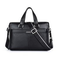 Brand P Kuone Men Briefcase Genuine Leather Business Bag 14 Leather Laptop Briefcase Shoulder Bags Men