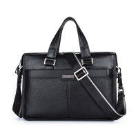 Brand P Kuone Men Briefcase Genuine Leather Business Bag 14 Leather Laptop Briefcase Shoulder Bags Men