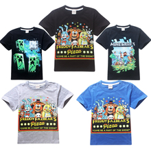 Boy Clothes Cartoon Children t Shirts Five Nights At Freddy's Clothing Camiseta Kids Clothes Boys T-shirt 5 freddys tops #D