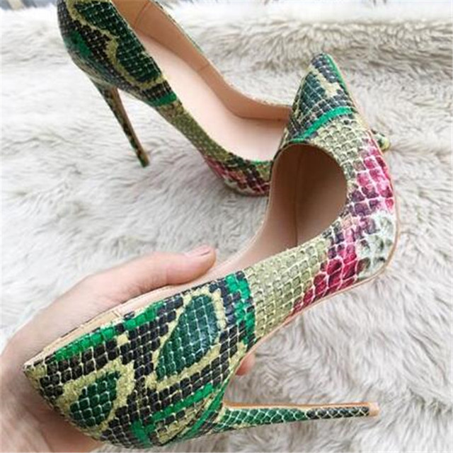 3509831c579 US $58.24 48% OFF|So Kate Women Pumps Python Leather Sole Stiletto High  Heels Shoes Woman Sexy Leopard Dress Pigalle Party Wedding Shoes Ladies -in  ...