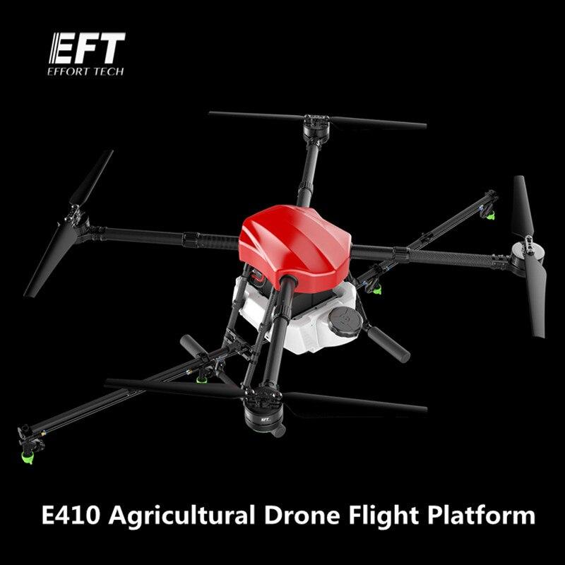 Oyuncaklar ve Hobi Ürünleri'ten Parçalar ve Aksesuarlar'de EFT E410 1300mm Dingil Mesafesi su geçirmez tarım püskürtme drone uçuş platformu 10 KG/10L Katlanır UAV 4 axis sprey Quadcopter'da  Grup 1