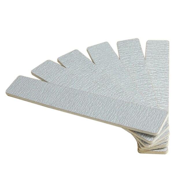 100/180 пилочки для ногтей, 50 шт./лот, серый шлифовальный буфер для наждачной доски, инструменты для нейл арта, бесплатная доставка # SC0621 01