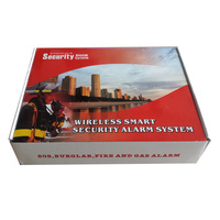 Security GSM Alarm System Security Wireless Smart SOS Burglar Fire and Gas Alarm GSM with PIR Sensor Door Window Sensor