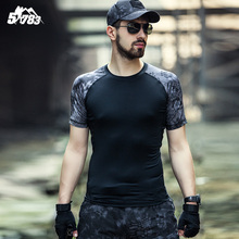 Man Camouflage T-shirt Men Cotton Army Tactical Combat T Shirt Military Sport Camo Camp Mens T Shirts 2016 Tees