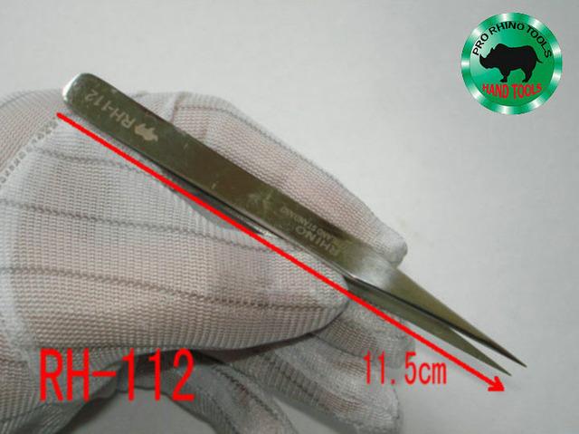 Japón Marca RHINO RH-112 115mm Pinzas de Alta precisión Súper Fuerte Para La Reparación de Reloj o De Sujeción Móvil objetos Pequeños herramientas