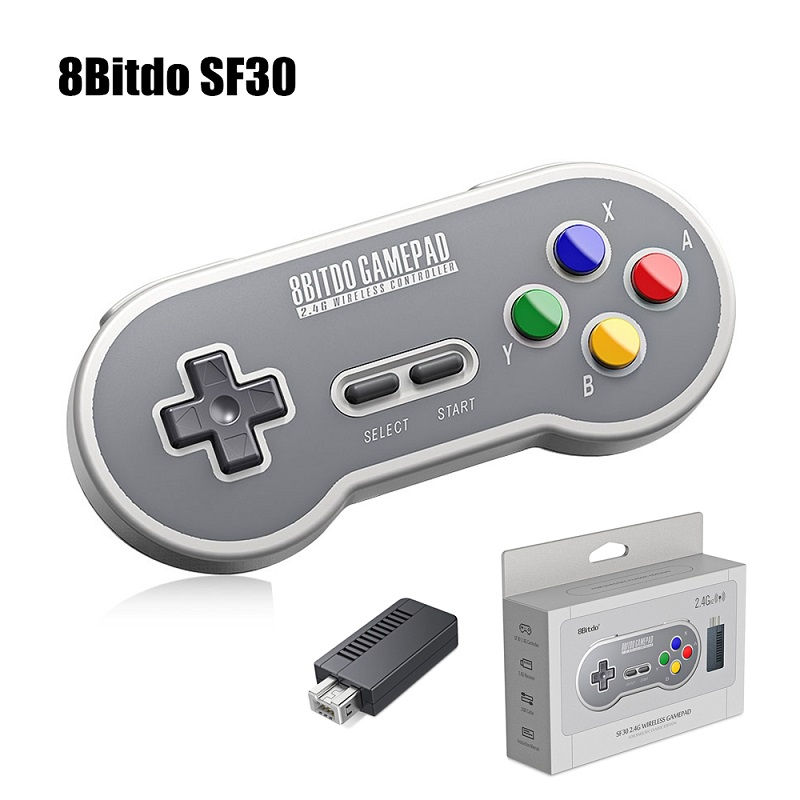 8Bitdo SF30 SN30 2.4G Wireless Gamepad Retro Controller with 2.4G NES Receiver USB-C Wireless Game Pad for SNES Classic Edition