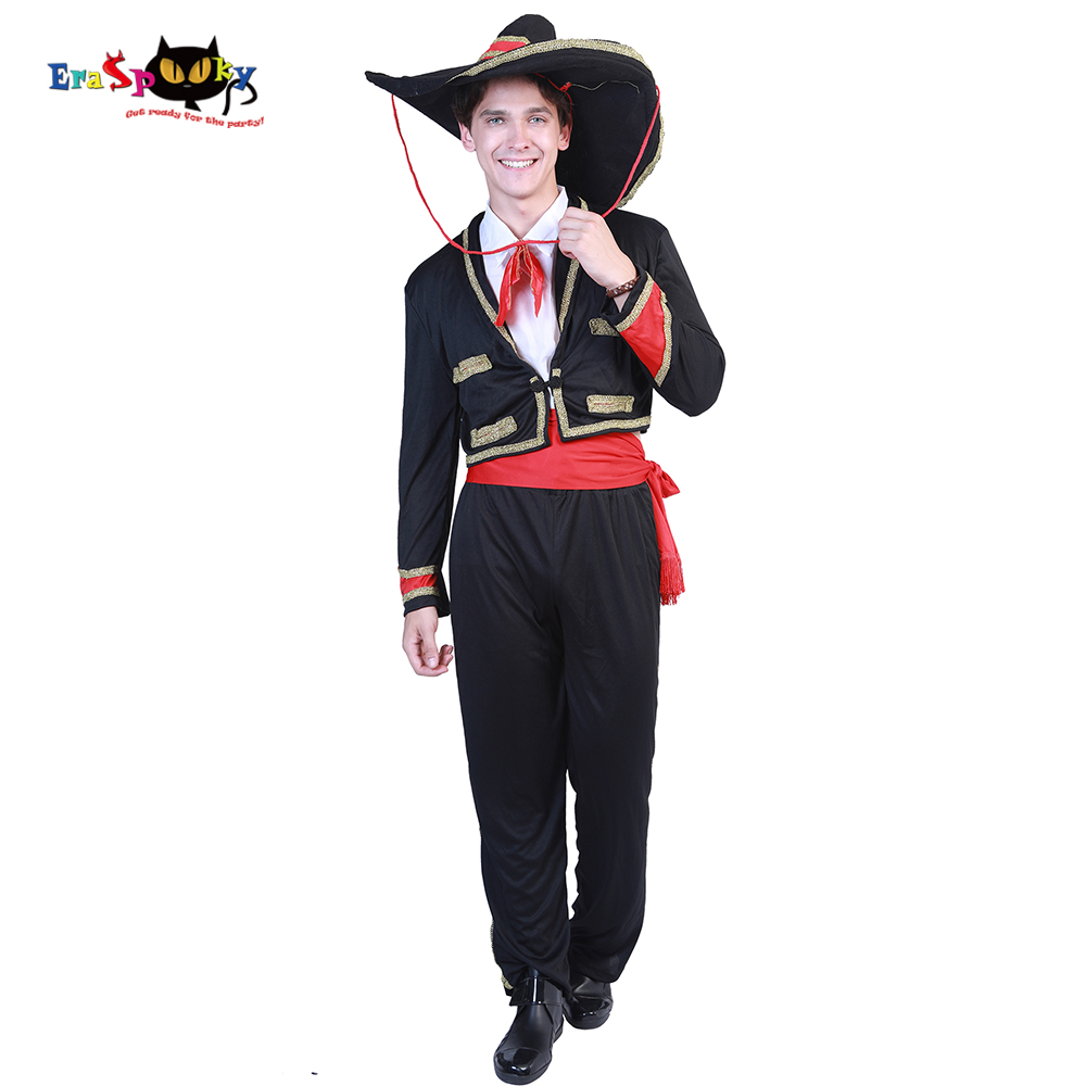 Eraspooky man costume Halloween costume for adult Mexican Costume Mariachi Party Set Matador Men`s Cosplay Carnival Cosplay