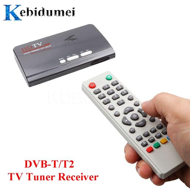 ТВ тюнер Kebidumei DVB T/DVB T2 ТВ приставка VGA AV CVBS 1080P HDMI Цифровой HD спутниковый ресивер с пультом дистанционного управления