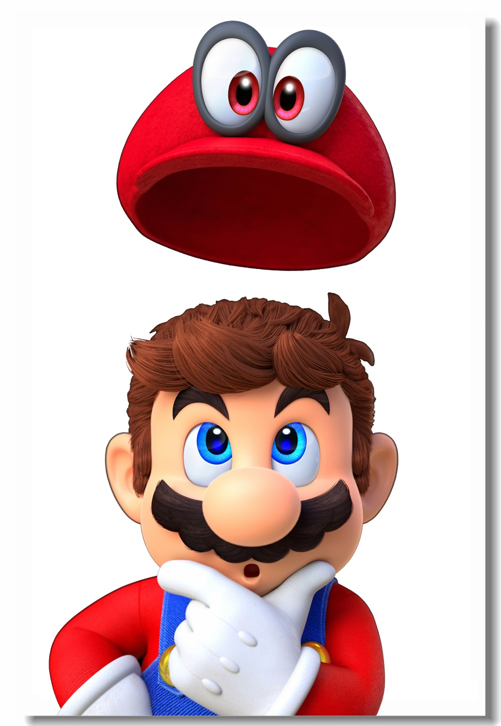 Us 5 43 32 Off Custom Canvas Wall Decals Super Mario Odyssey Poster Mario Bros Wall Sticker Mural Living Wallpaper Kids Room Decorations 0506 In