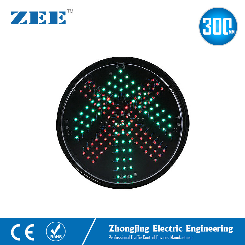 12 Inches 300mm Red Cross Green Arrow LED Traffic Lamp
