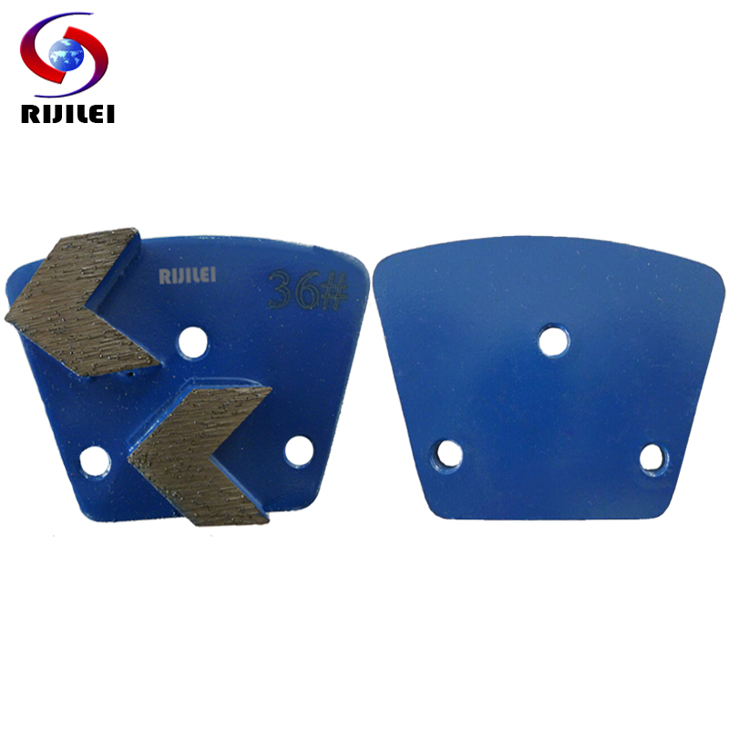 RIJILEI 30PCS Disco de pulido de diamante de unión de metal trapezoidal Zapatos de pulido de hormigón Placas almohadilla de pulido de mármol para piso A30