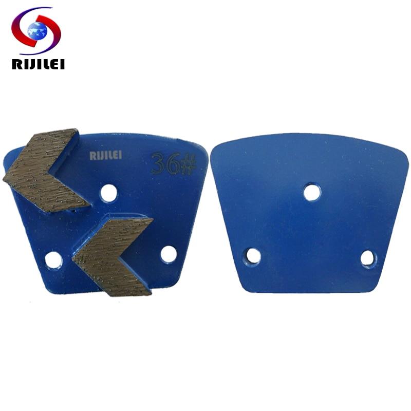 RIJILEI 30PCS Trapezoid Metal Bond Diamond Grinding Disc Concrete Grinding Shoes Plates Floor Marble Polishing Pad A30