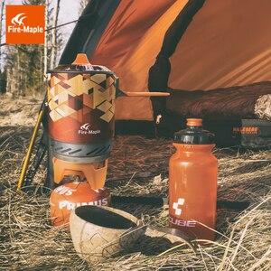 Image 3 - Fire Maple X2 открытый газовая горелка плита туристическая портативная система приготовления пищи с теплообменником горшок FMS X2 Кемпинг Пешие Прогулки газовая плита горелки