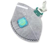 5 шт. N95 маска Top активированный уголь дыхательный клапан защитные маски респиратор маски пассивного курения