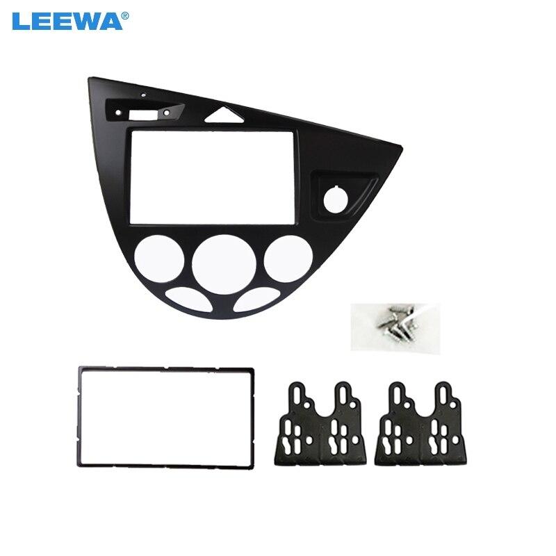 Leewa 2din стерео Панель для Ford Focus/Fiesta фасции Радио и установка тире Установка отделка комплект Уход за кожей лица правой диск