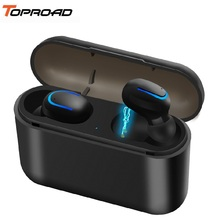 TOPROAD Bluetooth Earphone TWS V5.0 Wireless Waterproof Sport Headphones Stereo Bass Earbuds In Ear Headset with Mic Power Bank-in Bluetooth Earphones & Headphones from Consumer Electronics on Aliexpress.com | Alibaba Group