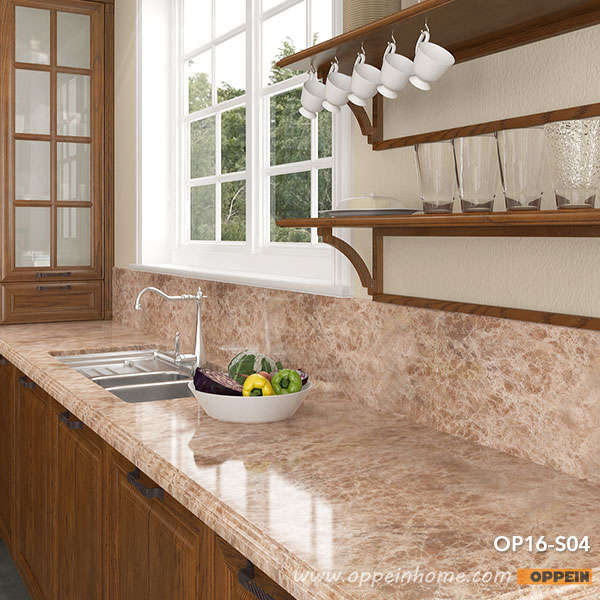 Red Oak Kitchen Cabinets Modern Rural Red Oak Kitchen Cabinet kitchen Furniture OP16-S04