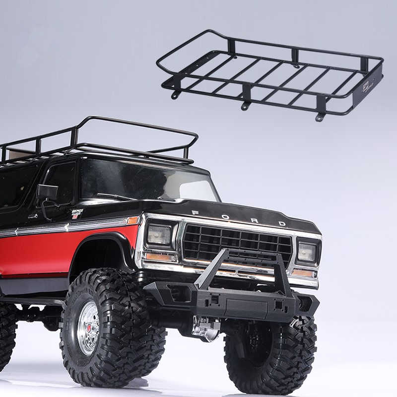 In Acciaio Inox Tetto In Metallo Rack Per 1/10 Rc Crawler Auto Traxxas Trx4 Ford Bronco Assiale Scx10 90046 90047 Jeep Wrangler