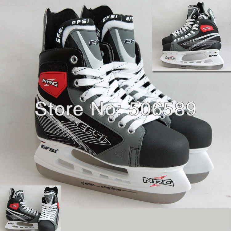 free shipping adult's hockey skates gray color free shipping hockey skates black color 507