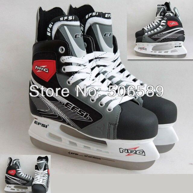 free shipping adult's hockey skates gray color