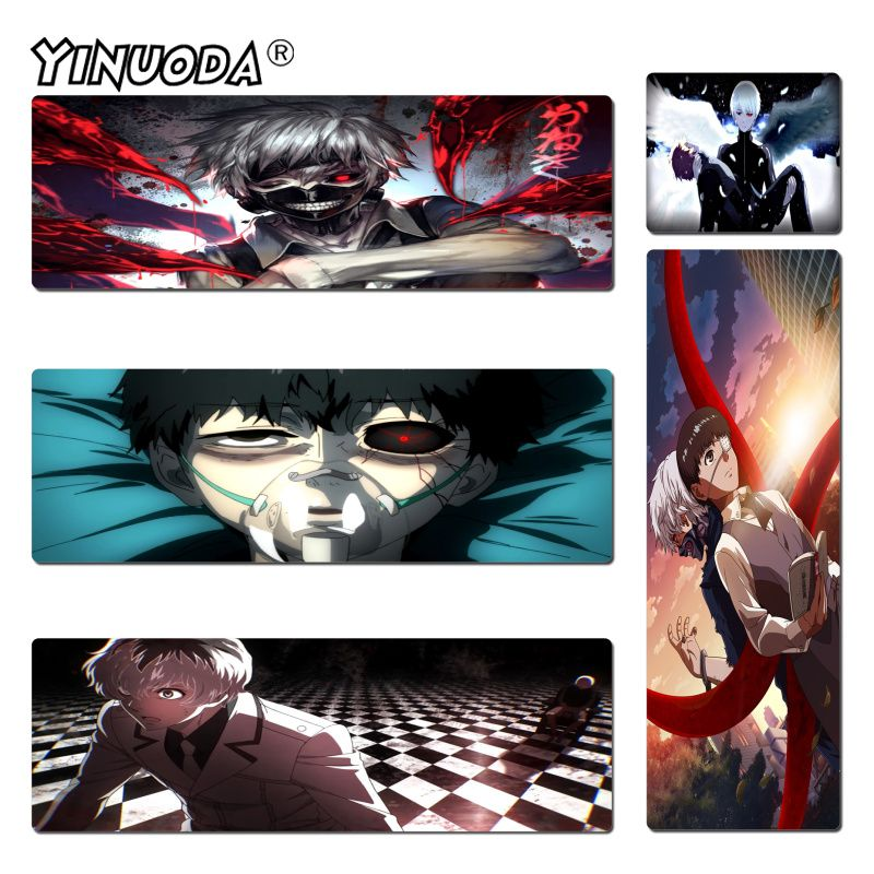 Yinuoda Personalized Cool Fashion Japan Tokyo Ghoul mouse pad play mats Size 180*220 200*250 250*290 300*600 and 400*900*2mm