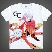 Guilty Crown Shu Ouma Inori Summer Cute T shirt Cosplay Anime Men Cotton T Shirt Multi