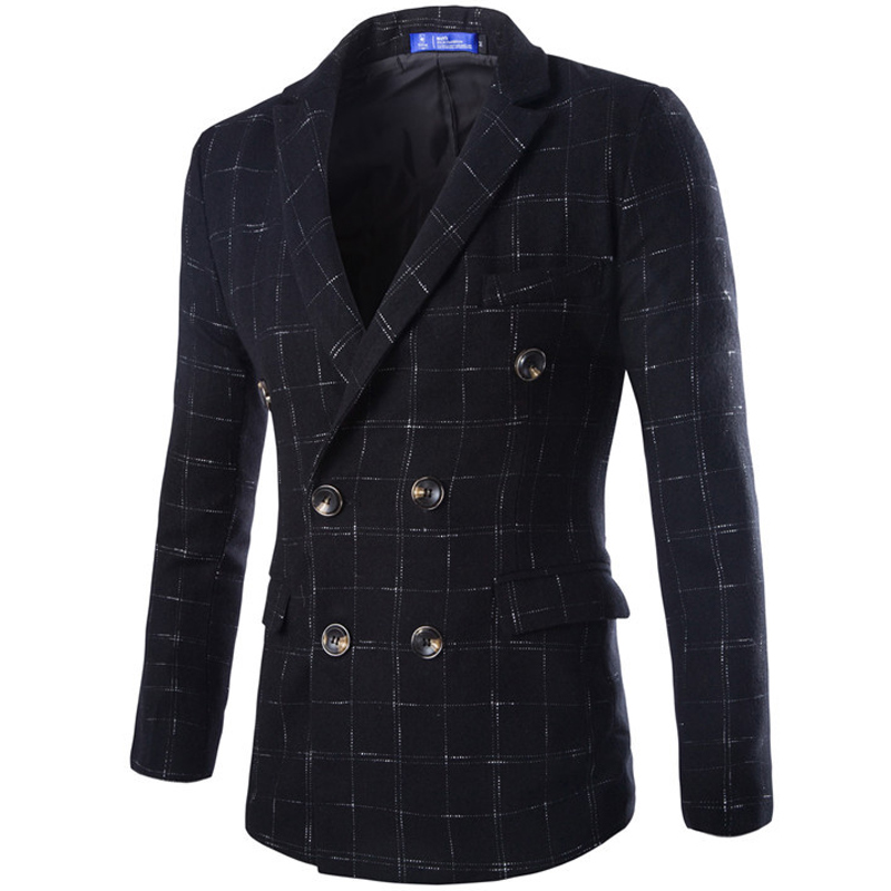 Popular Mens Plaid Pea Coat-Buy Cheap Mens Plaid Pea Coat lots