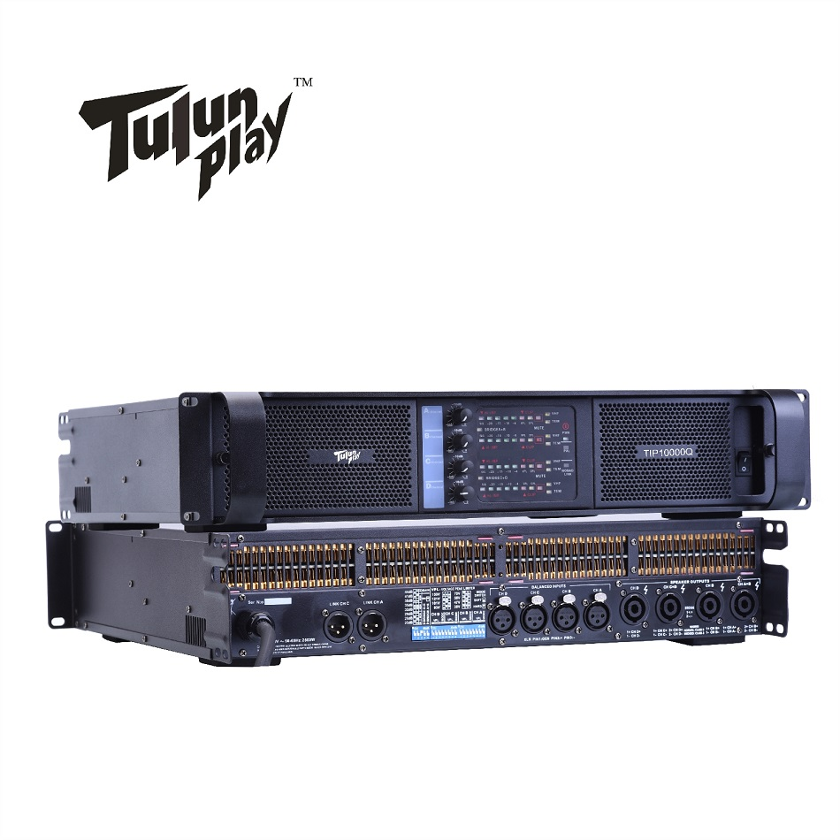 4 Channel 4 2500 Watts Class TD 10000q line array sound system audio professional power amplifier