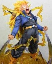 MODEL FANS Dragon Ball Z 30cm super saiyan 3 future Trunks gk resin figure toy for