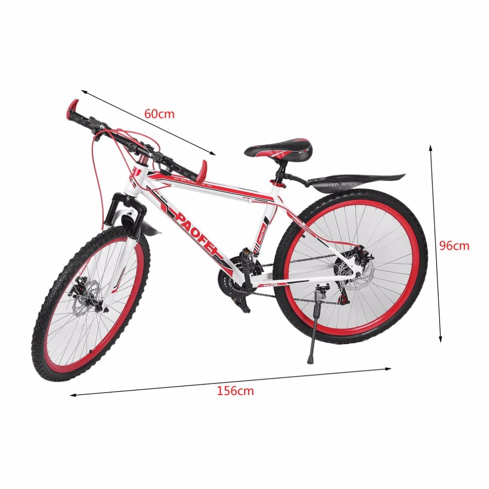 26 InchX17 Inch Front And Rear Disc Bike 30 Circle Mountain Bike Variable Speed MTB Road Racing Bicycle 180 16 9 fast fold front and rear projection screen back