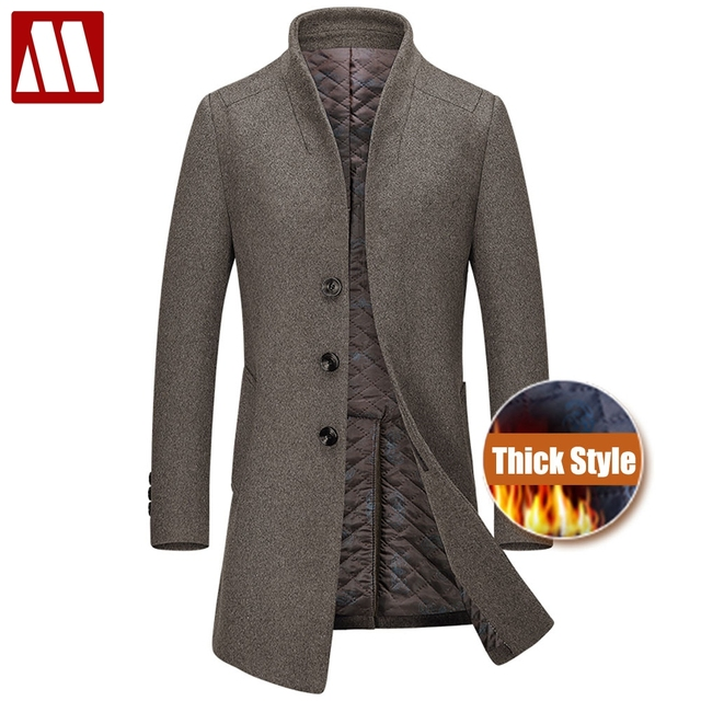 new thicken winter wool coat men thick woolen overcoat. Black Bedroom Furniture Sets. Home Design Ideas