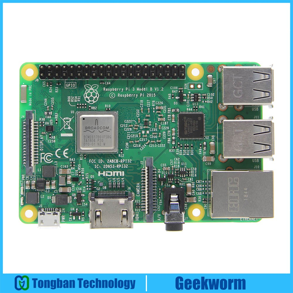 Raspberry Pi 3 Model B ARM Cortex A53 CPU 1 2GHz 64 Bit Quad Core Board