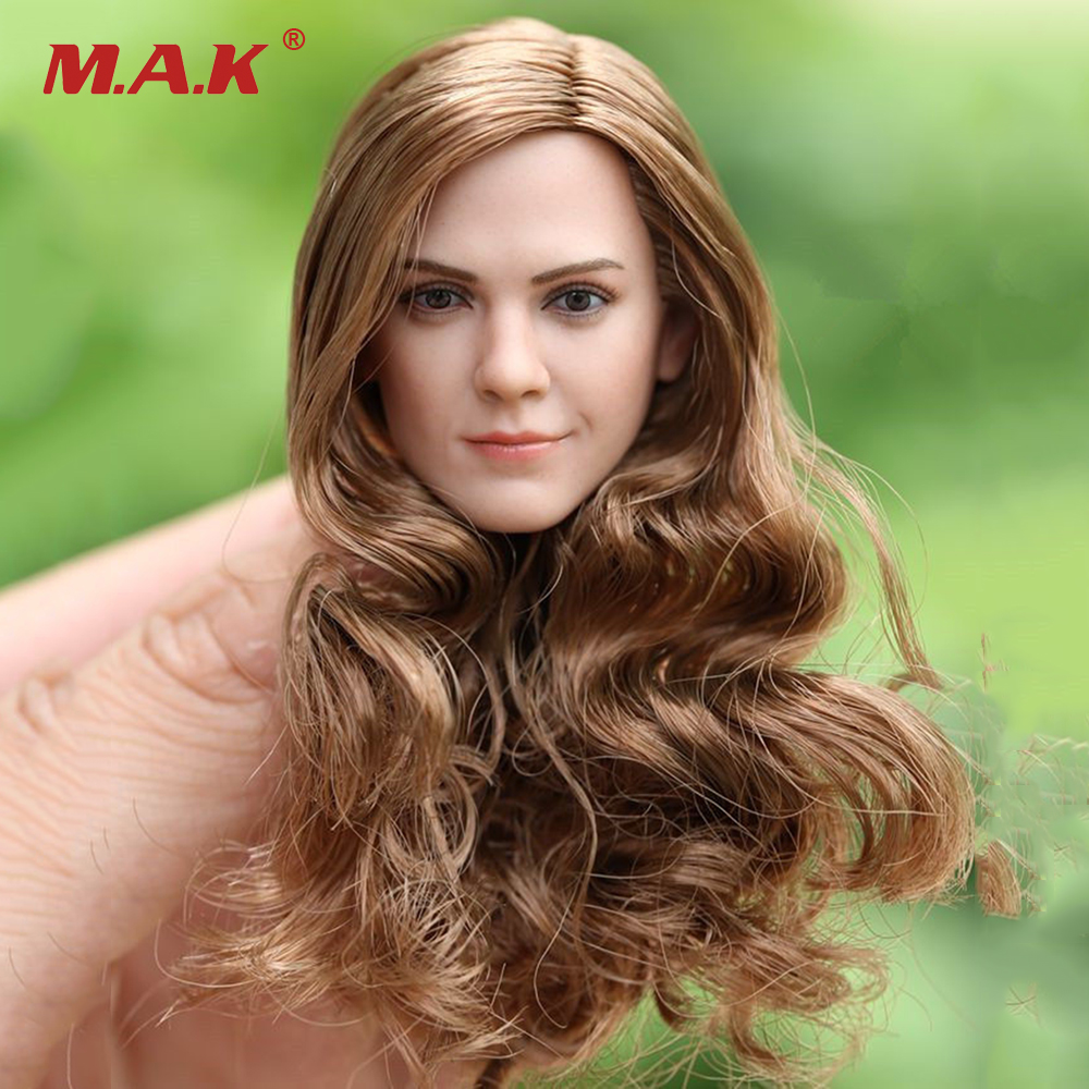 1/6 Scale Hermione Emma Watson Head Sculpt W Long Curls Hair F 12'' Doll star ace 1 6 harry potter hermione granger emma watson collectible action figure doll