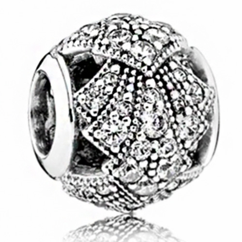 Simple Style Big Ball Stars Crystal Flowers diy bead fit Original Pandora charms silver Bracelet trinket