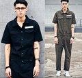 De alta qualidade Novo dos homens de personalidade roupas macacão macacão soltas roll-up hem casuais calças/S-XL frete GRÁTIS!