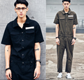 High quality New men's clothing personality loose jumpsuit overalls roll-up hem casual pants / S-XL fREE SHIPPING !