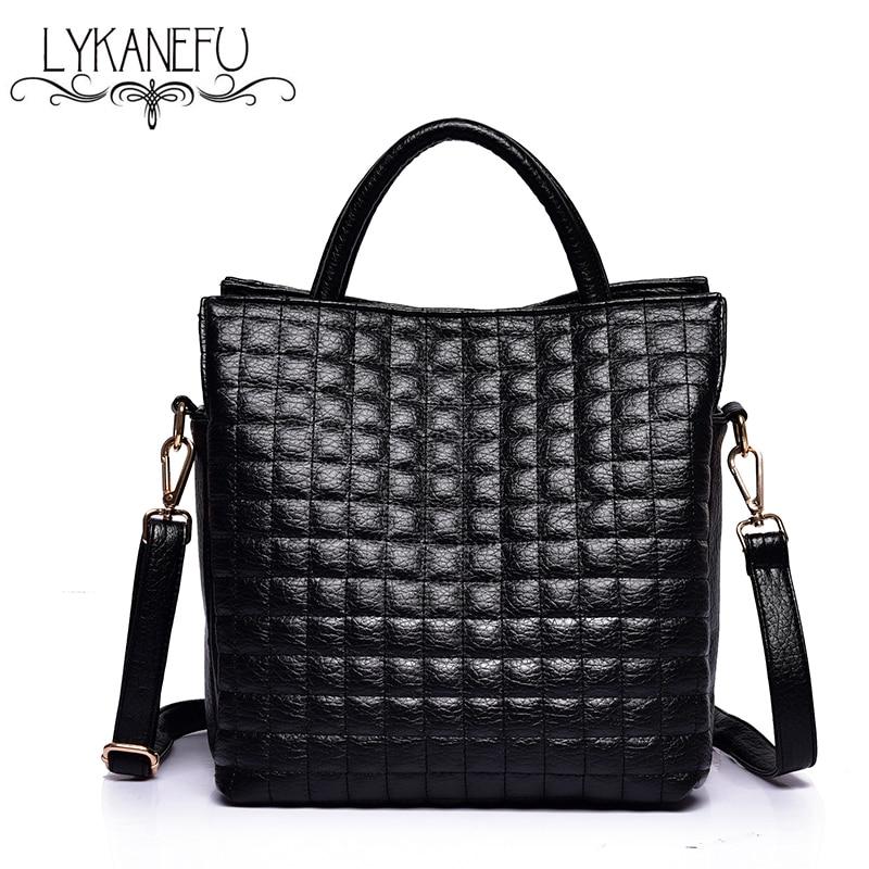 LYKANEFU Fashion Soft Women Handbag Large Shoulder Bags Elegant Famous Designer Brand Bag OL Ladies Tote Sacthel Purse Bolsa
