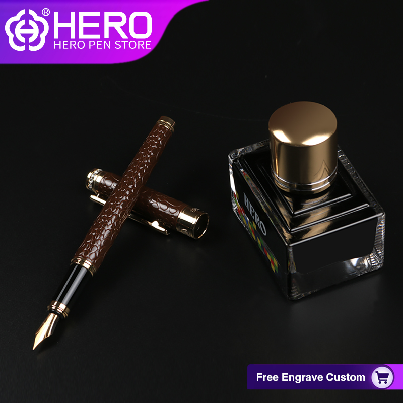 Hero Fountain Pens Original Authentic Writing Supplies High Quality Luxury Iraurita Smoothly Writing Pens 1076 authentic luxury