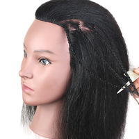 Hot Sale 100% real black hair african training head for paint bleach curl braid hairstyle Good Mannequin Head Black Dolls Heads
