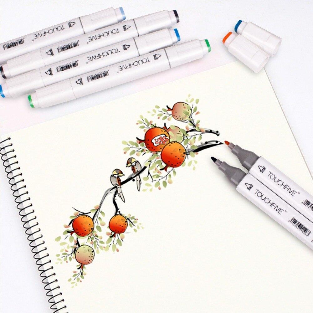 Twin Brush Marker Set Touchfive Graffiti Marker Pen Set Touchnew Sketching markers 60 Colors Drawing Pen Manga Design for School