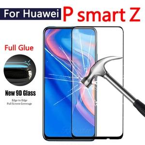Image 1 - 9D フルカバー強化ガラス P スマート Z スクリーンプロテクター hauwei の Y9 首相 1080p スマート 2019 psmartz glas 保護フィルム