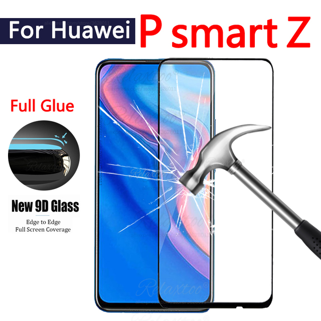 9D フルカバー強化ガラス P スマート Z スクリーンプロテクター hauwei の Y9 首相 1080p スマート 2019 psmartz glas 保護フィルム