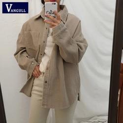 Nowy Harajuku sztruks kurtki damskie zimowe jesień płaszcze Plus rozmiar płaszcze damskie duże topy słodkie kurtki jednolity kolor odzież 3