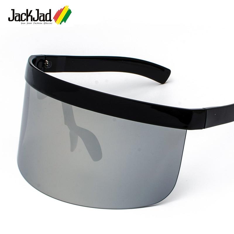 JackJad 2018 Mode Tendance Surdimensionné Bouclier Masque Style Lunettes De soleil Marque Conception Coupe-Vent Lunettes De Soleil Oculos De Sol 6890