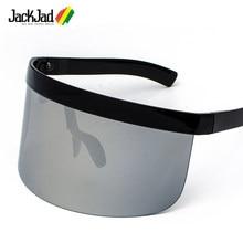 Jackjad 2020 moda tendência oversized escudo máscara estilo óculos de sol óculos design da marca à prova de vento óculos sol oculos de sol 6890