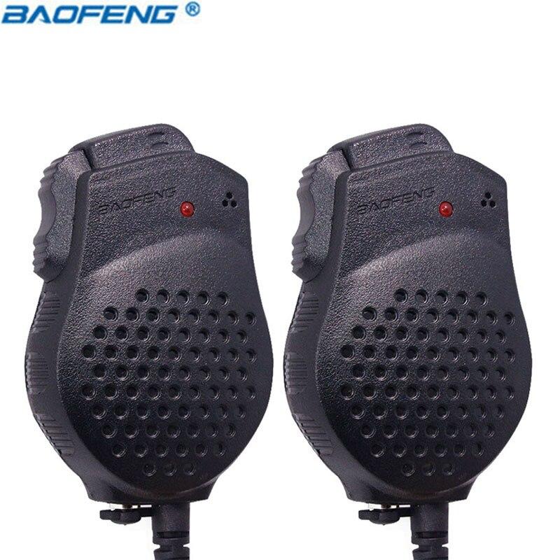2PCS Original Baofeng UV-82 Dual-PTT speaker MIC Portable Push-To-Talk for bf-uv82 Walkie Talkie Microphone accessories UV 82