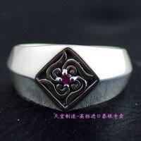 Ювелирные украшения кольца из стерлингового серебра 925 квадратное уплотнительное кольцо tangcao