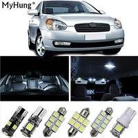 Para Hyundai ACCENT Sonata Carro Lâmpadas Led Para Carros T10 BA9S 31mm 36mm Substituição Dome Mapa Lâmpada Led Light Bulb 9 PCS