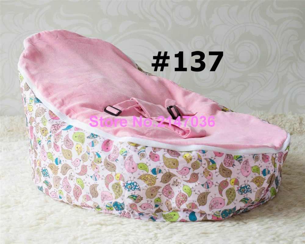 Pássaros cor de rosa cadeiras do saco de feijão do bebê/cadeira do saco de feijão do bebê do projeto de insetos, crianças mobiliário beanbag, moda assento do bebê